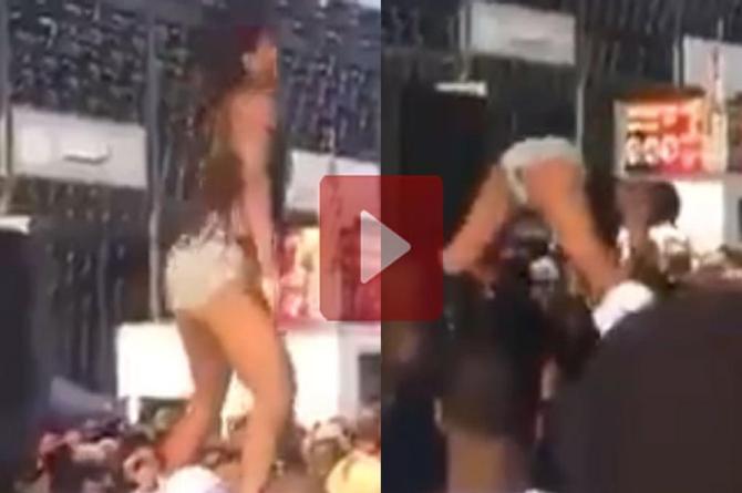 ¡No aguantó! Por querer lucirse en baile sexy la regó ¡en serio! (+VIDEO).