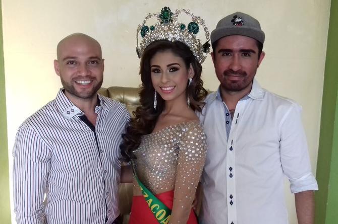 Banda y corona de Miss Earth Coatzacoalcos para Fernanda Jiménez (FOTO)