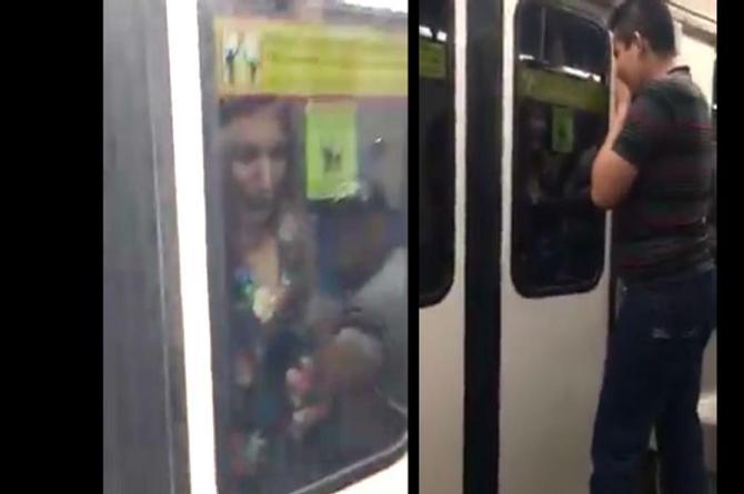 Conoce a #LadyMetro, la intrépida mujer que se colgó por fuera en un metro en movimiento