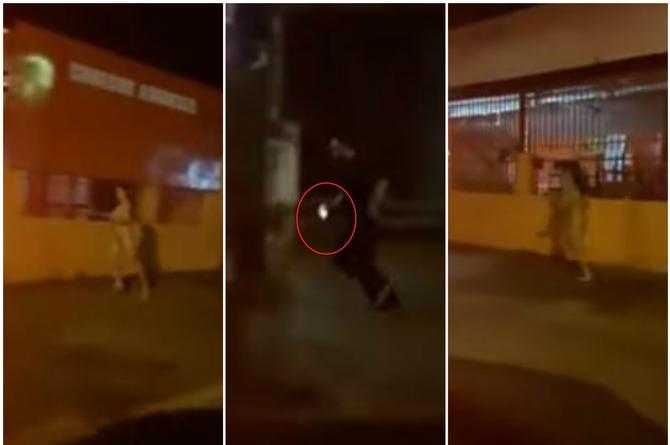 ¡Qué poca! Mujer tuvo que correr desnuda tras su novio porque le robó su celular (+VIDEO)