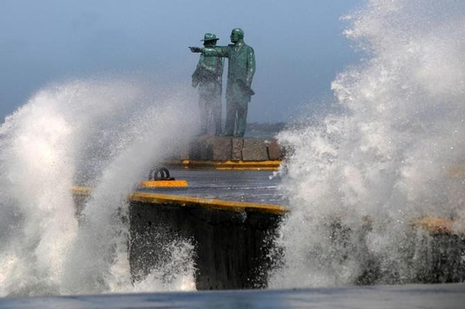 Viento en Veracruz podría alcanzar los 110 km/h