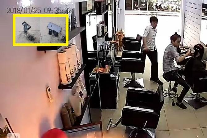 Cámara de seguridad capta el momento en que un iPhone explota (+VIDEO)
