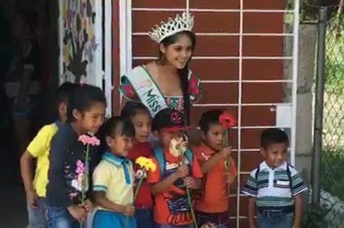 Lleva Miss Earth Veracruz mensaje del cuidado del medio ambiente a niños de escuelas rurales