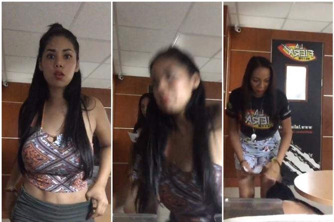 Se cae La Morocha en plena transmisión de Las Primas (+VIDEO)